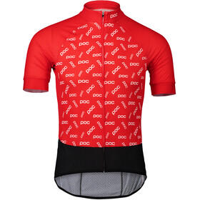 POC Essential Road Logo Jersey Herre polka poc prismane red